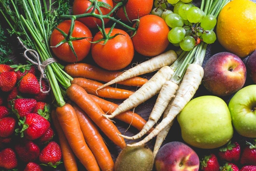 frutas y verduras alimentación saludable