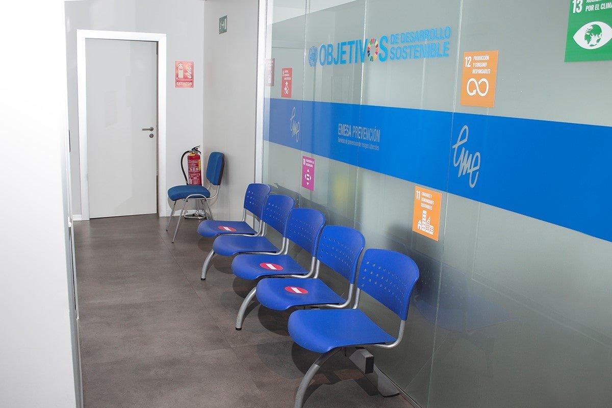 oficina Emesa Prevención sala de espera