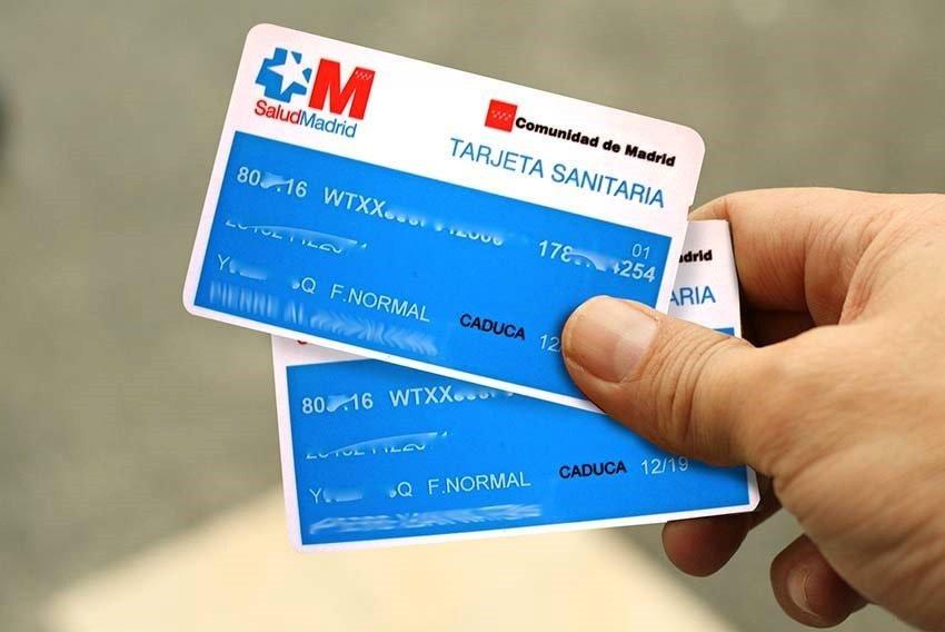 tarjetas sanitarias